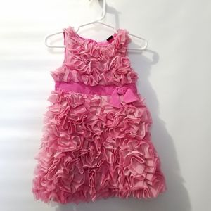 Baby Gap Pink Tulle Ruffle Dress 18 24 Months